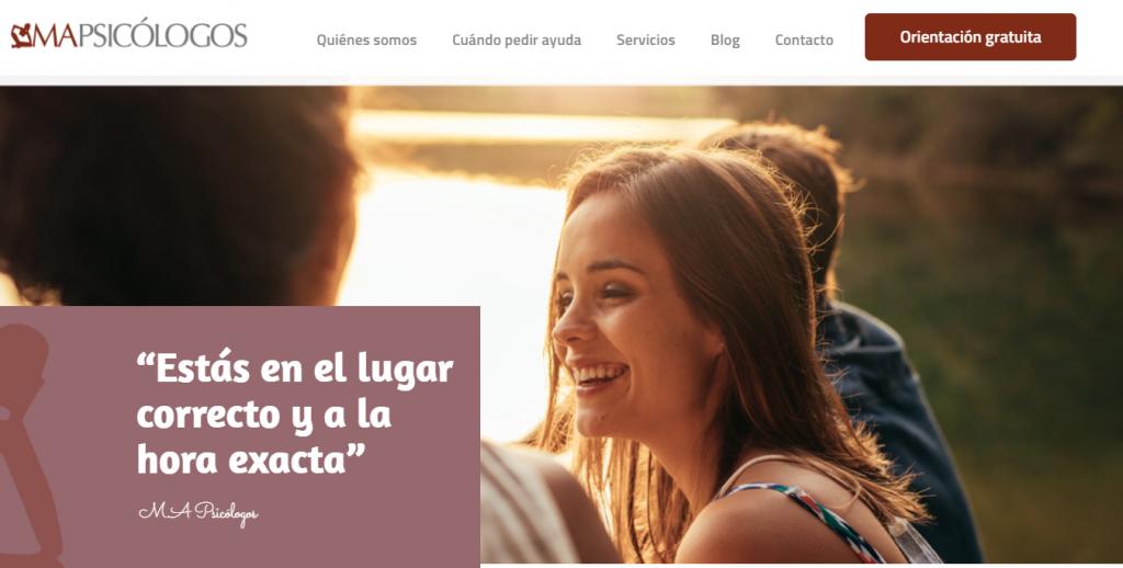 Nueva web MA Psicólogos